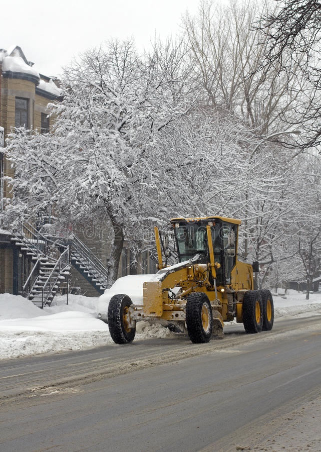 City snow cleaning royalty free stock photos