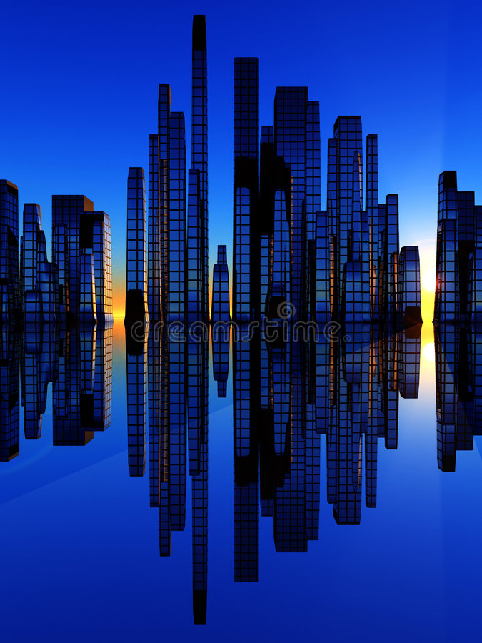 Download City Of The Soundwave 2 stock illustration. Image of skyscraper - 2717195