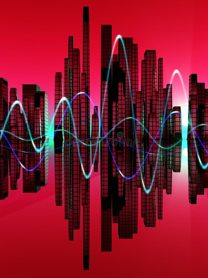 City Of The Soundwave 7 royalty free illustration