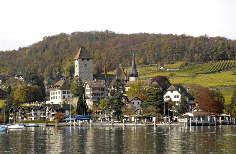 Download The city of Spiez stock photo. Image of thunersee, suisse - 12500544