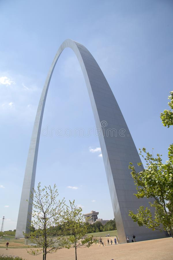 City ST Louis landmarks Gateway Arch MO USA royalty free stock image