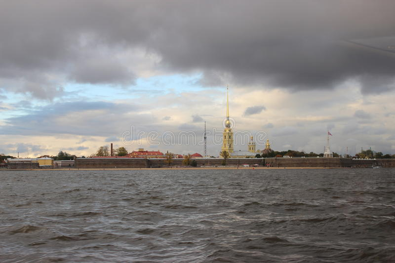 The city of St. Petersburg,fortress royalty free stock photo