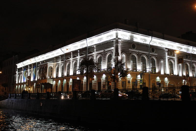 The city of St. Petersburg,night city stock photography