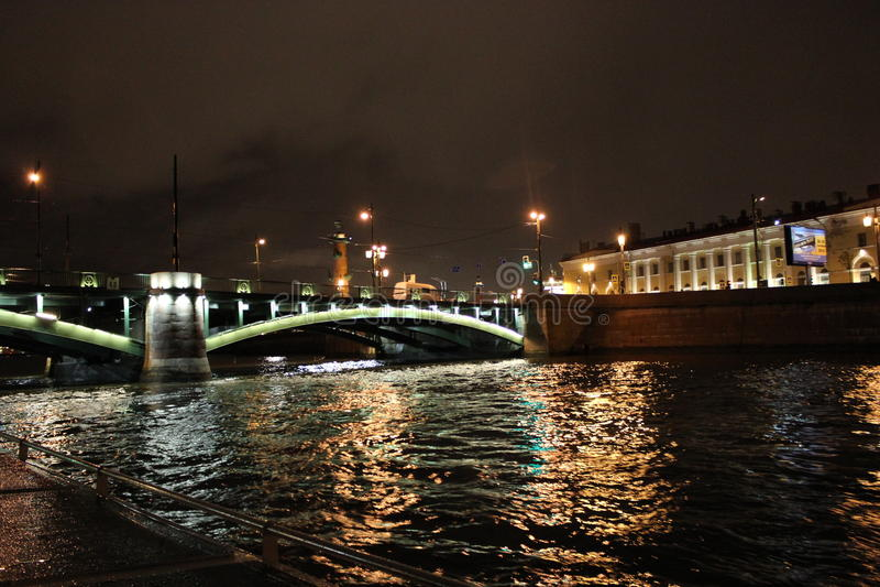 The city of St. Petersburg,Palace bridge royalty free stock image
