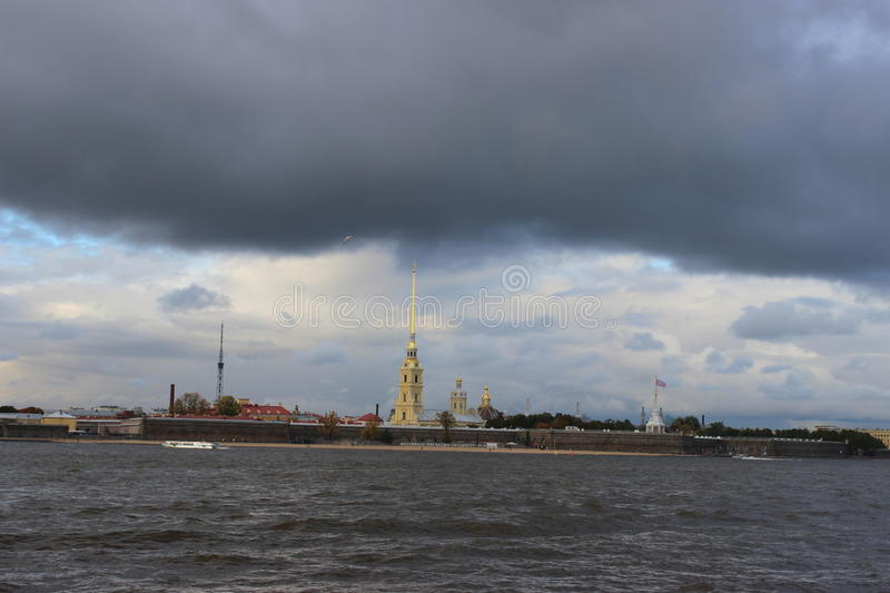 The city of St. Petersburg,Peter and Paul fortress royalty free stock photo