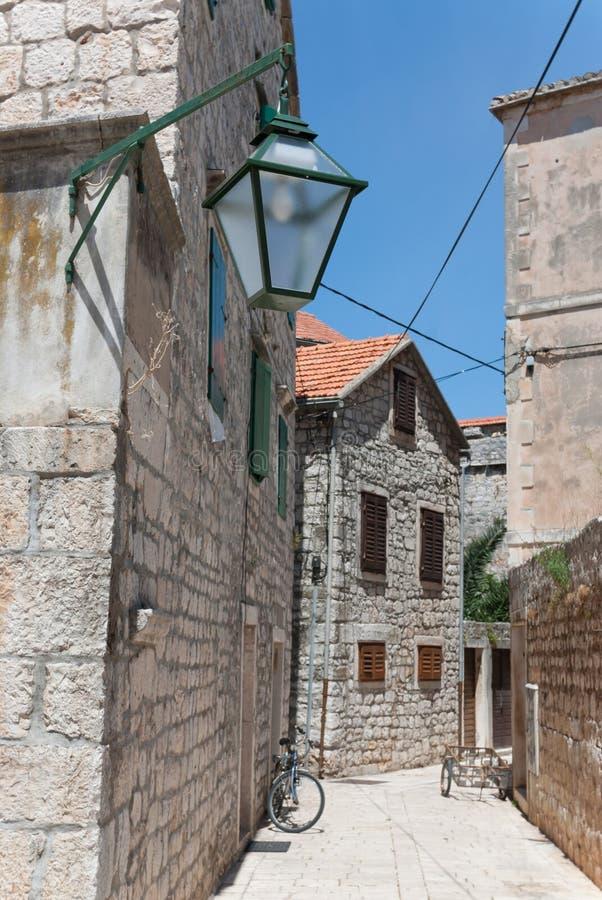The city of stari grad. The croatian city of stari grad on hvar in the adriatic sea royalty free stock photos