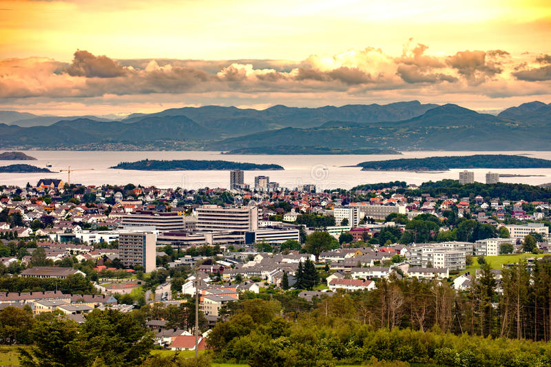 City of Stavanger stock photography