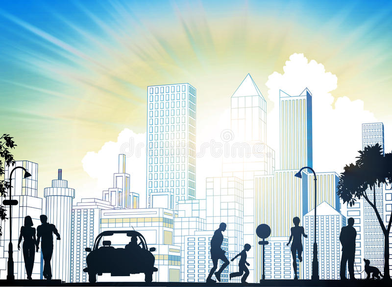 Download City street stock illustration. Image of black, foreground - 18949779