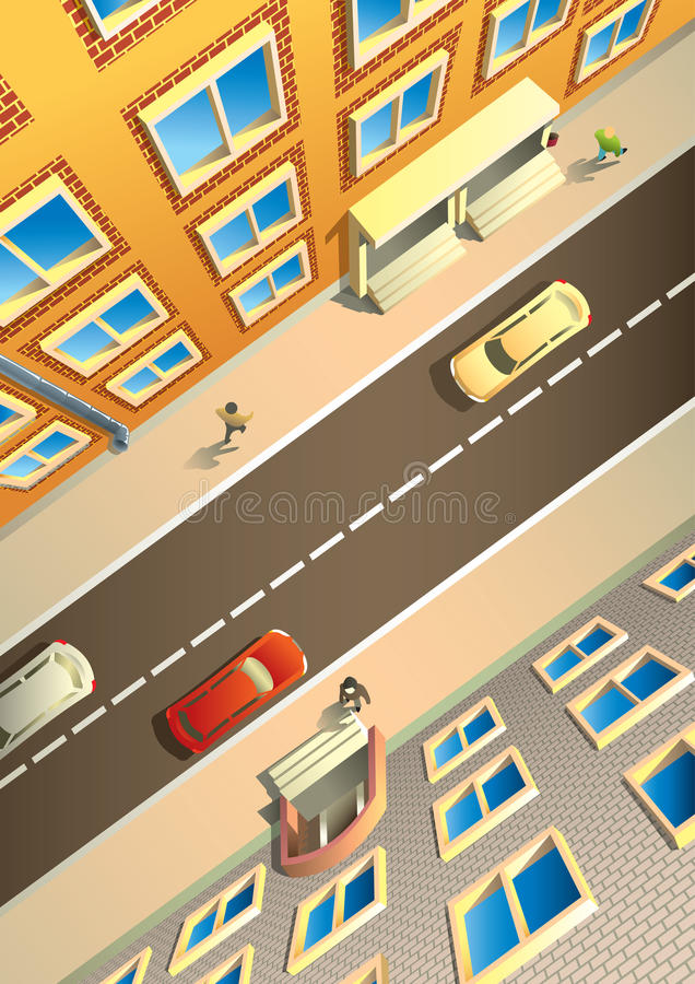 Download City street from above stock vector. Image of scene, road - 19648778