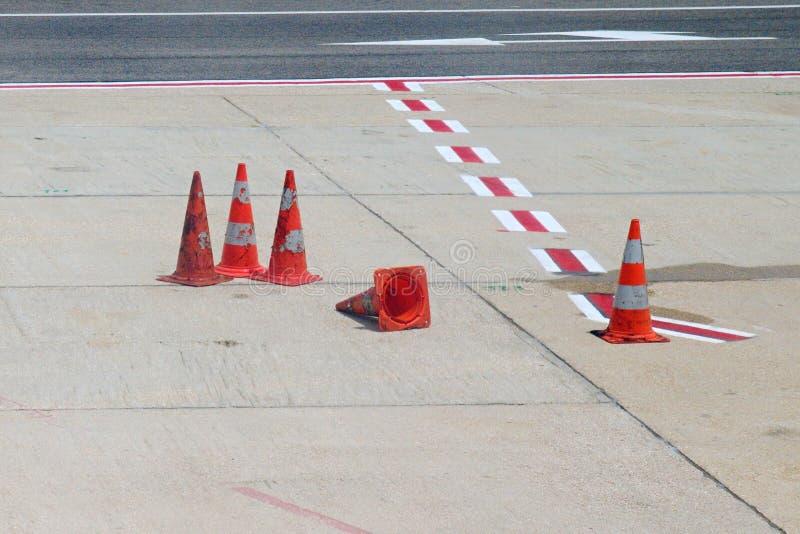 City street cones royalty free stock image