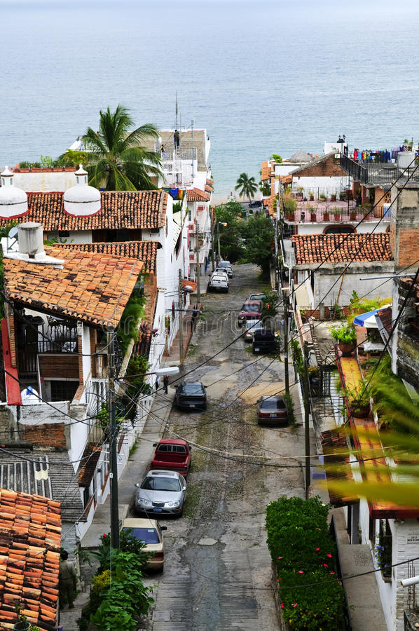 Download City Street In Puerto Vallarta, Mexico Stock Image - Image: 13565643