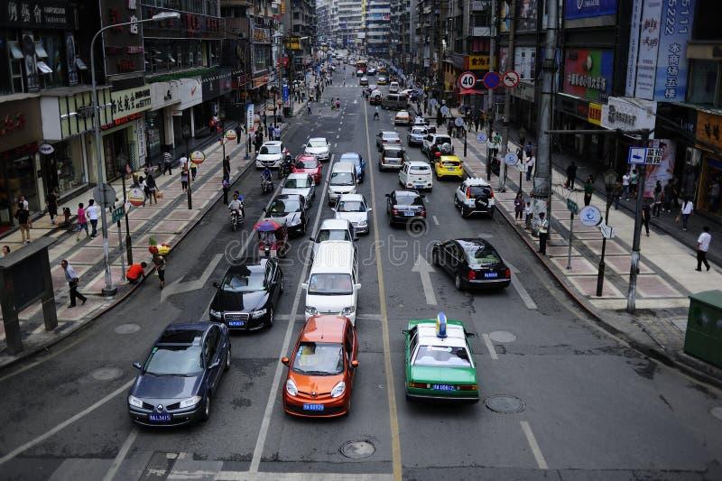 City street Traffic stock image