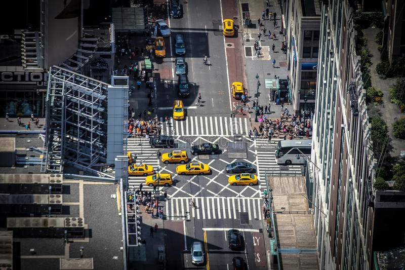 City street and traffic stock image