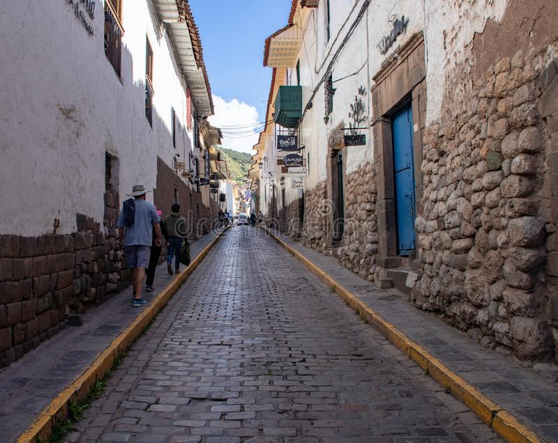 City Streets of Cusco. Views along the city streets of Cusco, Peru stock images