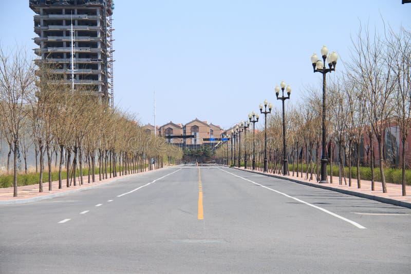City streets empty royalty free stock image
