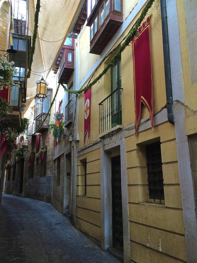 City Streets of Toledo, Spain royalty free stock photography