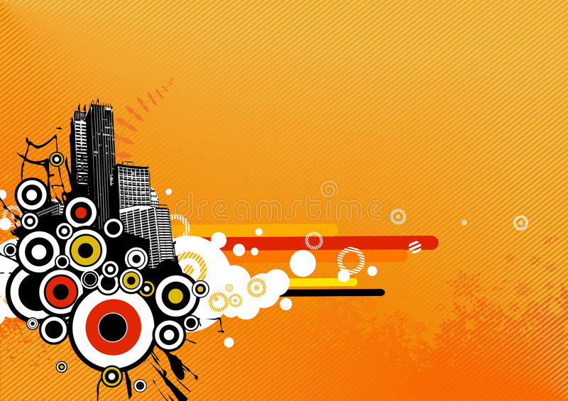Download City With Stripes. Vector Stock Image - Image: 5822571