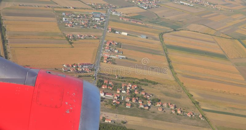 City suburb seen from a plane royalty free stock photos