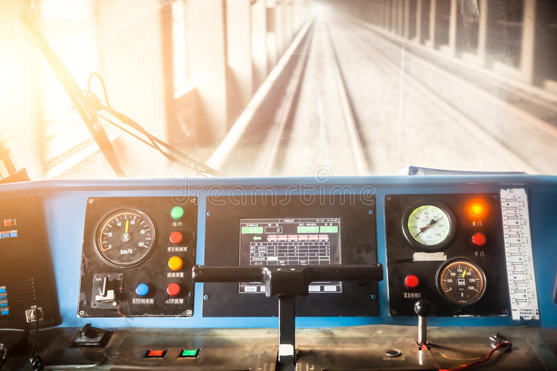 City subway cockpit royalty free stock images