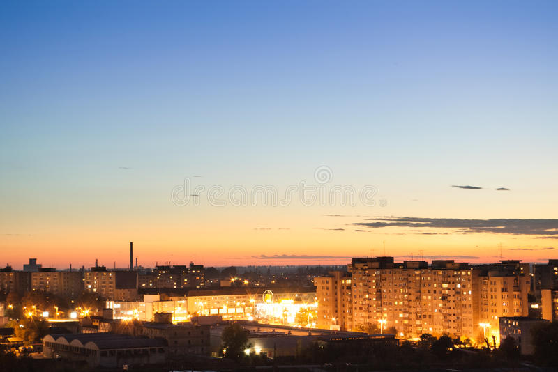Download City after sunset stock image. Image of exterior, outdoors - 18944217