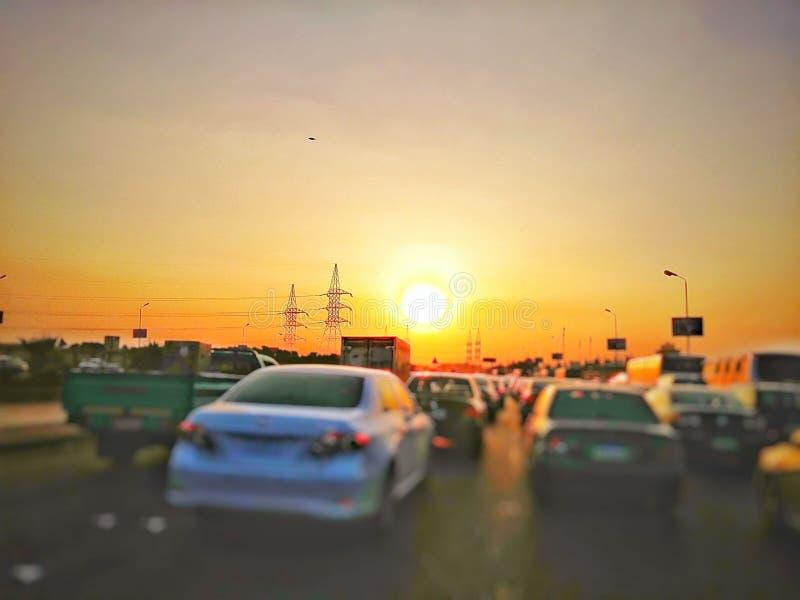 City Sunset royalty free stock photo