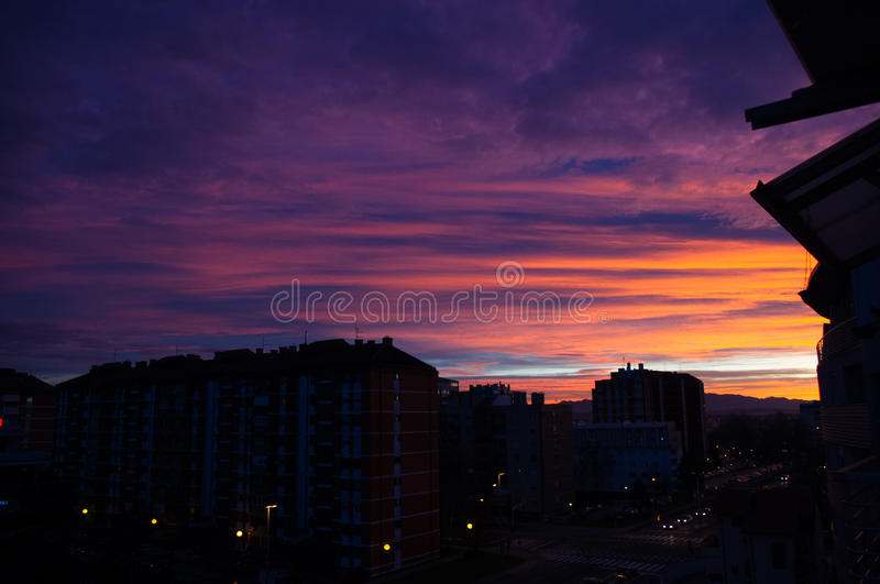 City Sunset royalty free stock image