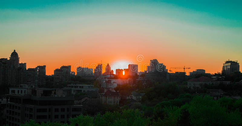 City Sunset royalty free stock images