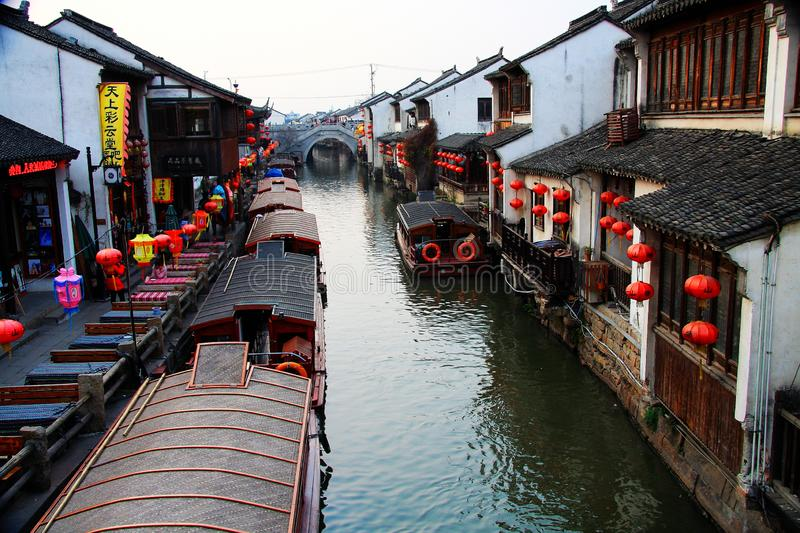 Chinese ancient town of Suzhou stock photography