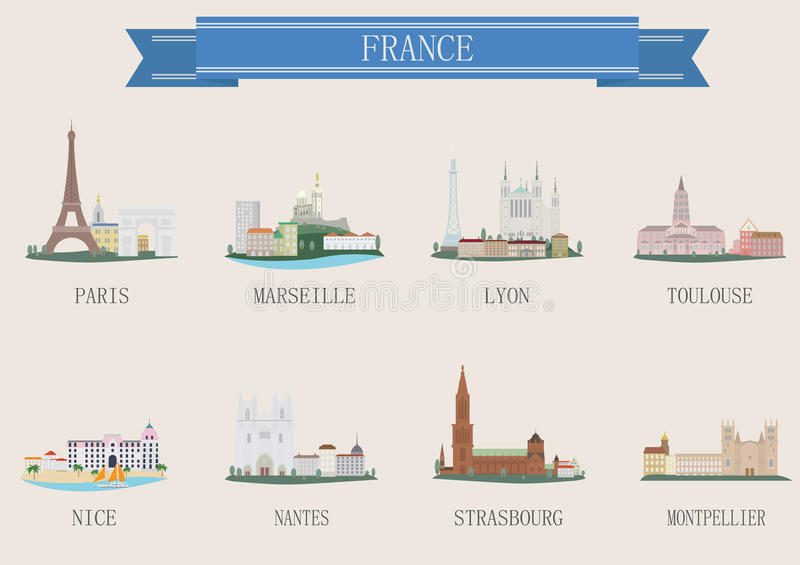 City symbol. France royalty free illustration