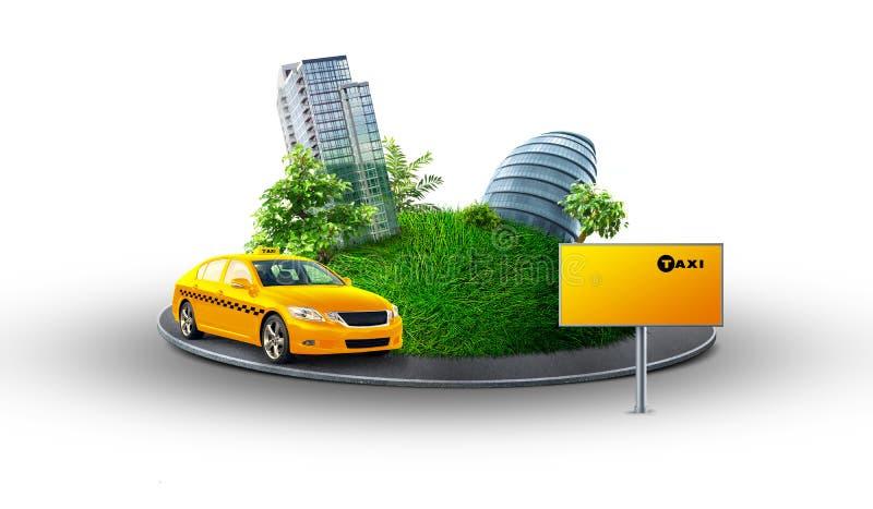 City taxi stock illustration