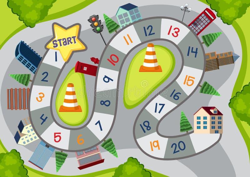Board Game Cartoon City Stock Vector Illustration Of