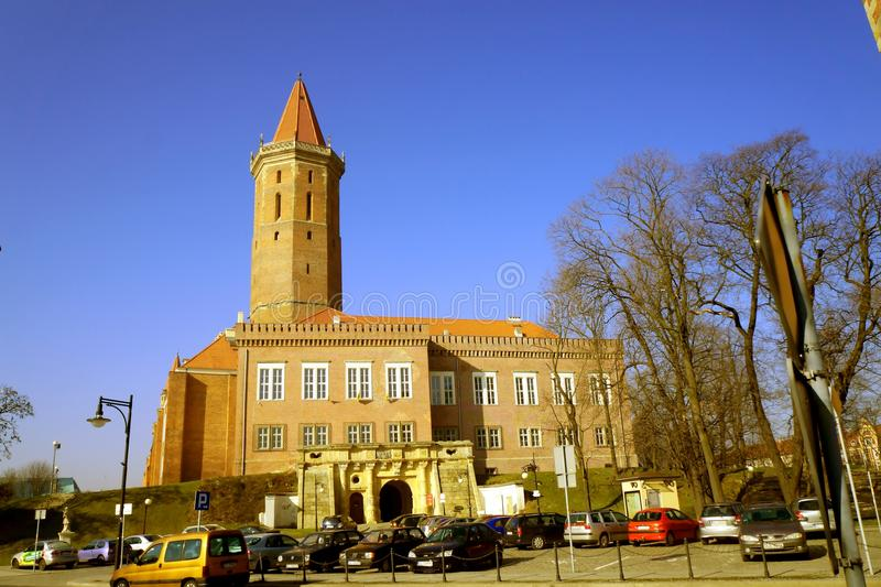 City in thespring morning. Legnica, Poland in the march morning royalty free stock photo
