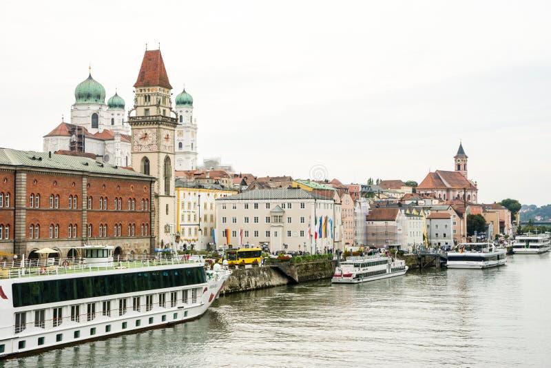 City of Three Rivers - Passau stock photos