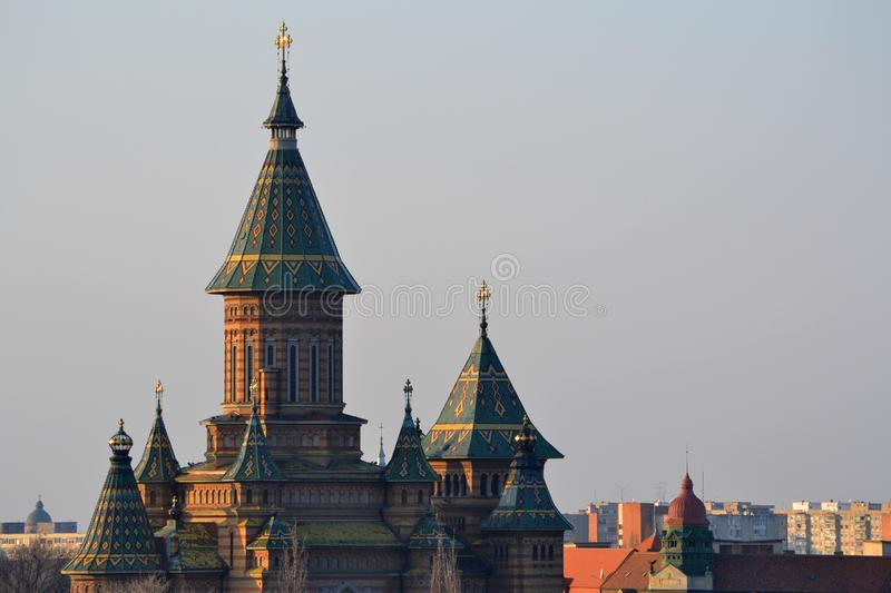 The orthodox church in Timisoara. royalty free stock images