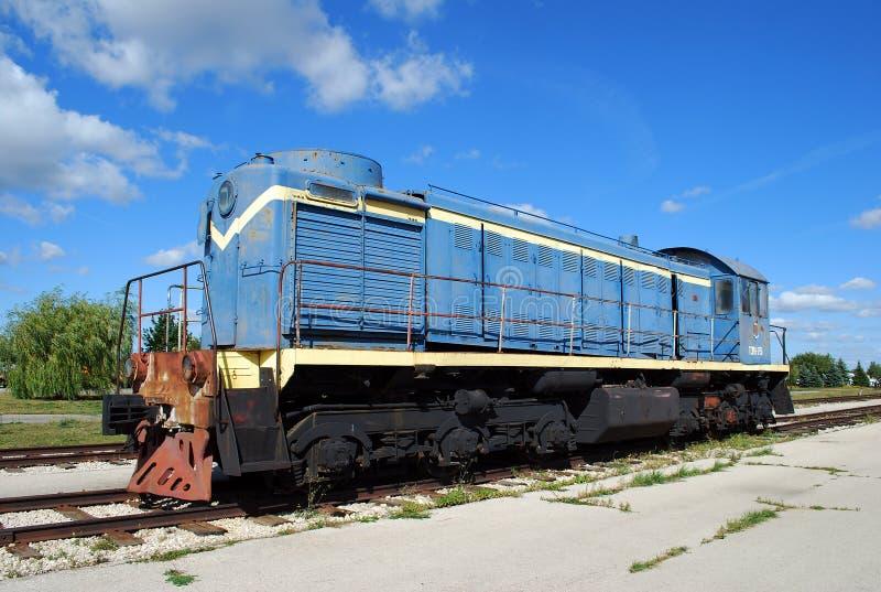 City of Togliatti. Technical museum of K.G. Sakharov. Exhibit of the museum TEM1 Soviet shunting locomotive. stock image