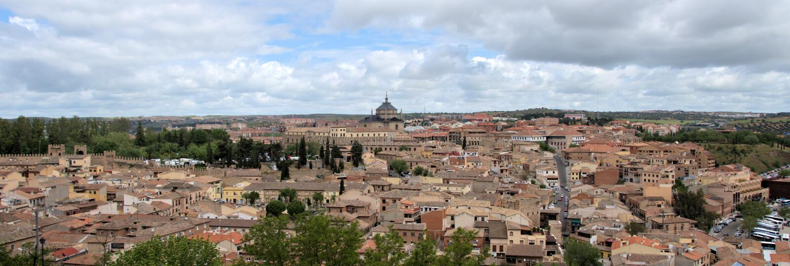 City of Toledo Spain. Beautiful skyline of the city of Toledo Spain royalty free stock photography