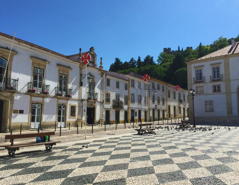 The city of Tomar Portugal stock photography