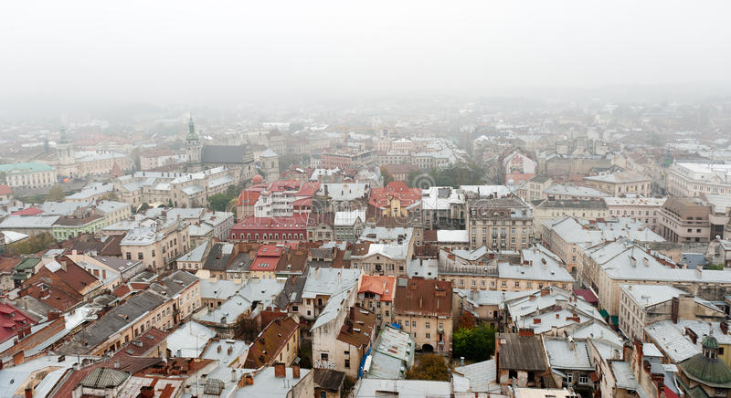 Download City - the top view stock image. Image of lvov, district - 17796867