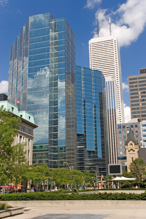 Download City Toronto King Str Two Blue Build No Signs Stock Image - Image: 544105