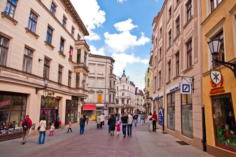 Torun, Poland, May 2011: Old Town Centre heritage architecture royalty free stock images
