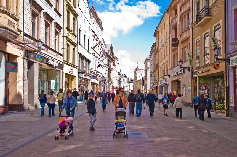Torun, Poland, May 2011: Old Town Centre heritage architecture royalty free stock photo