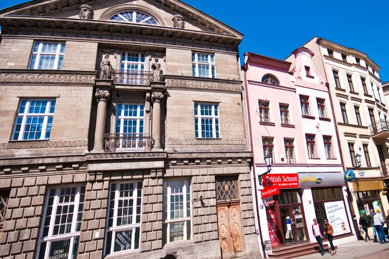 Torun, Poland, May 2011: Old Town Centre heritage architecture royalty free stock photos