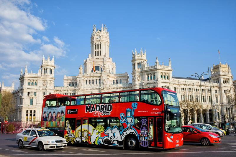 City Tour Bus in Madrid royalty free stock image