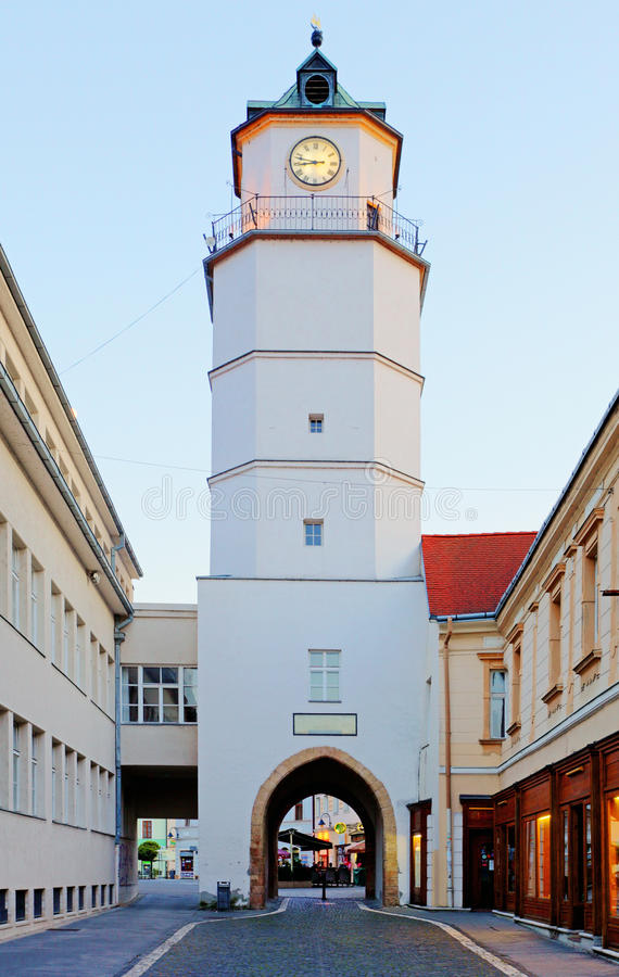 City tower in Trencin - Slovakia. City tower in city Trencin - Slovakia stock photos