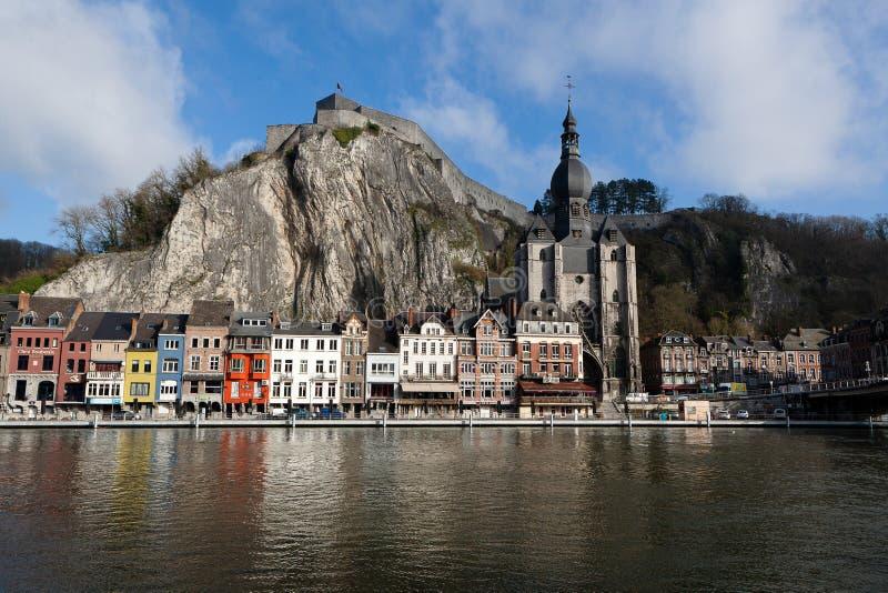 City town Dinant, Belgium royalty free stock images