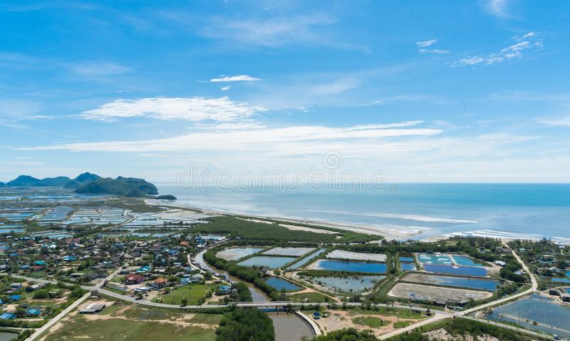 City or Town and Home Top View at Khao Dang View Point Prachuap Khiri Khan Thailand 3 royalty free stock photography