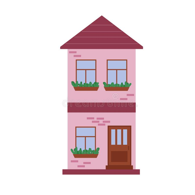 Free City Town House Vector Facade Face Side Street View City Modern World House Building Cartoon Architecture Stock Photos - 154058383