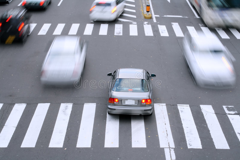 City traffic royalty free stock image