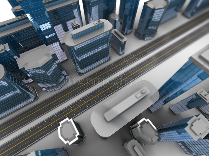 Download City traffic stock illustration. Image of illustration - 27878240