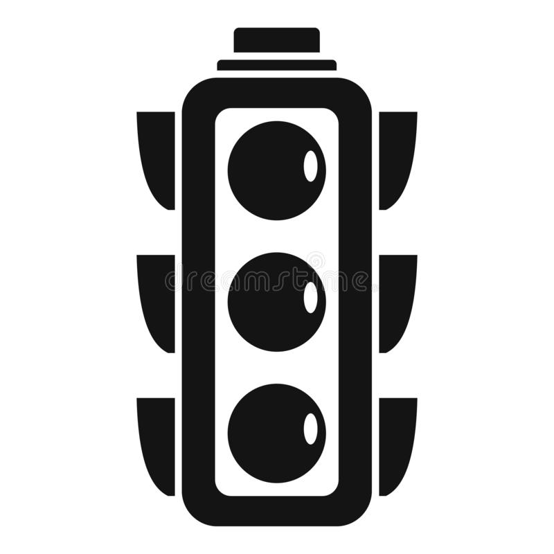 City traffic lights icon, simple style. City traffic lights icon. Simple illustration of city traffic lights vector icon for web design isolated on white stock illustration